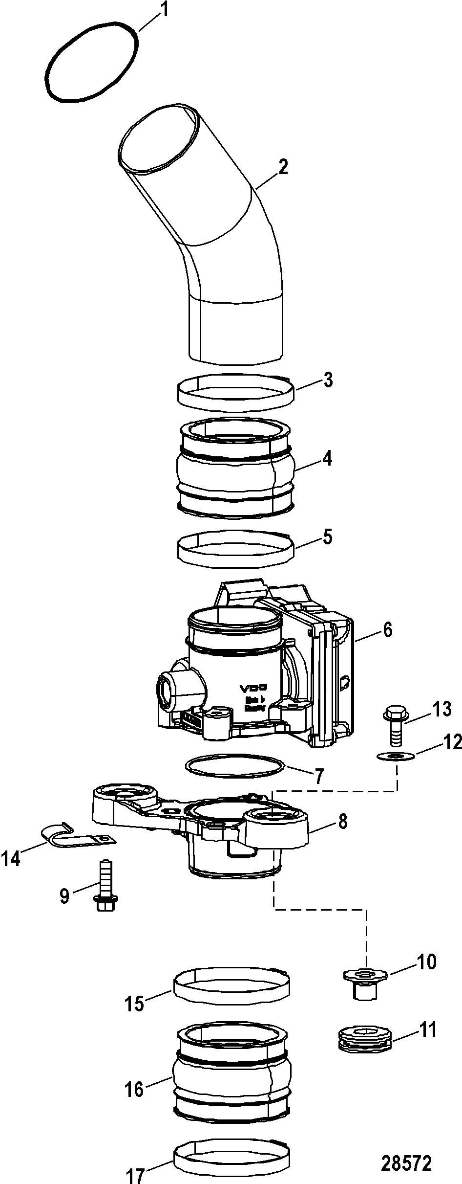 Каталог запчастей RACE STERNDRIVE 1075 SCi 0M957032 THRU
