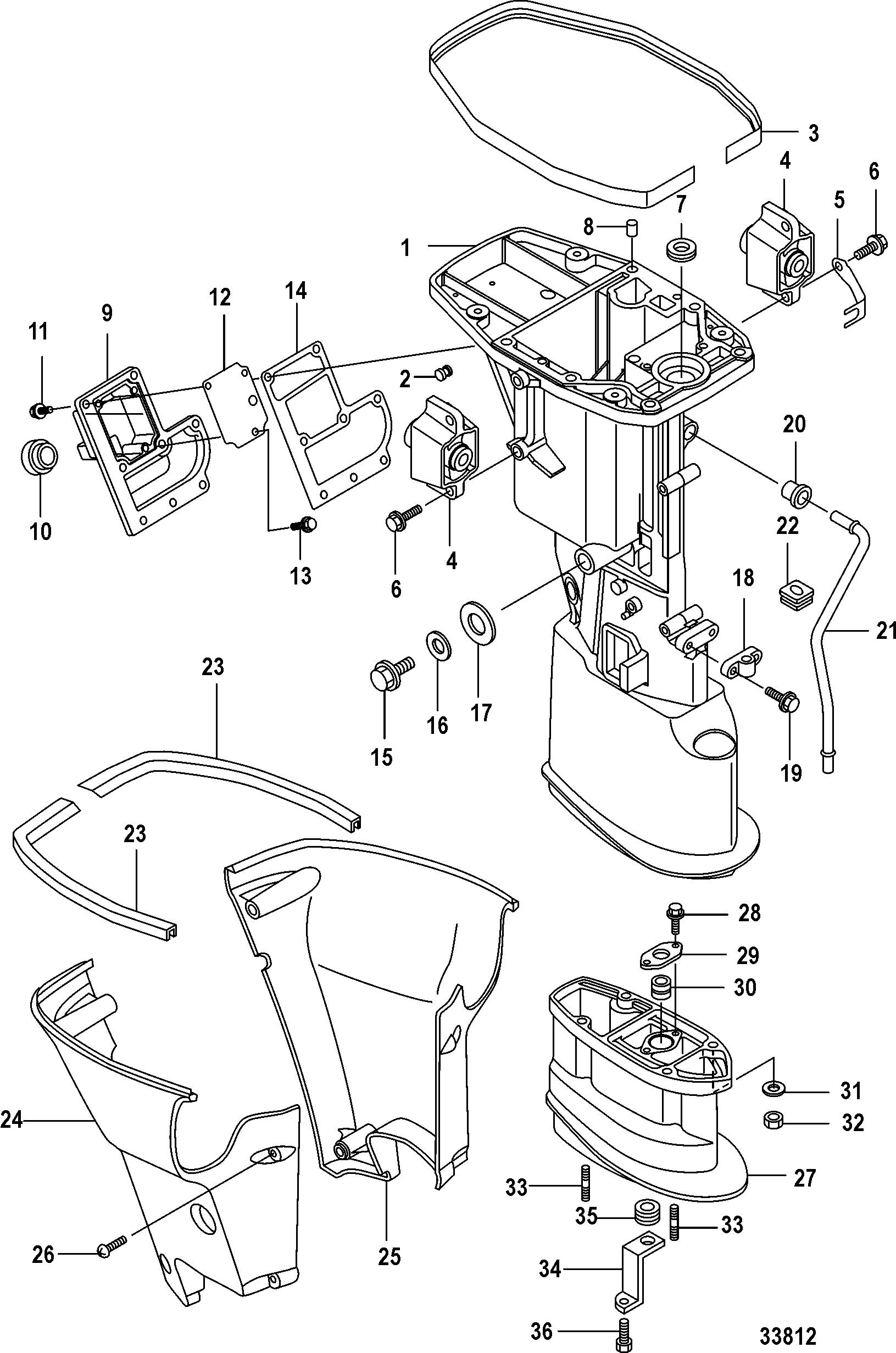 Каталог запчастей MARINER 15 Carb(2CYL)(4-STROKE) 0R235949