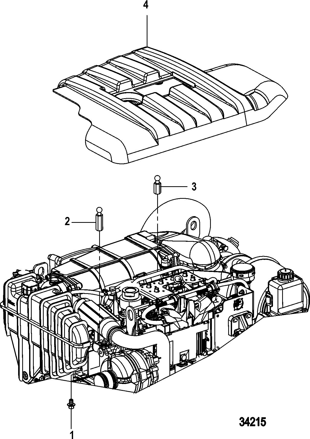 Каталог запчастей MERCRUISER Diesel CMD QSD 2.8 ES 170