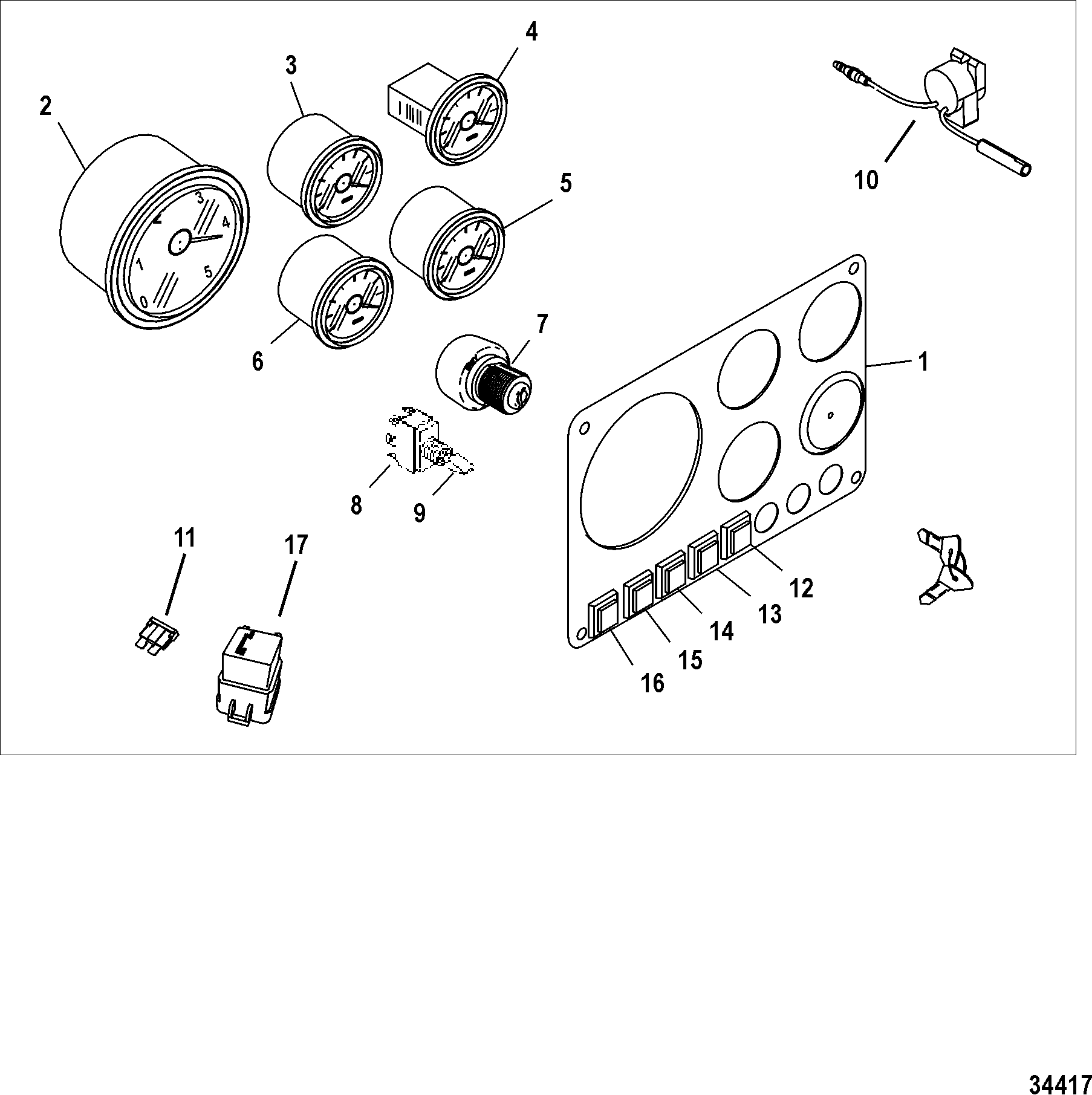 Каталог запчастей MERCRUISER остальные D1.7L DTI 0M055000