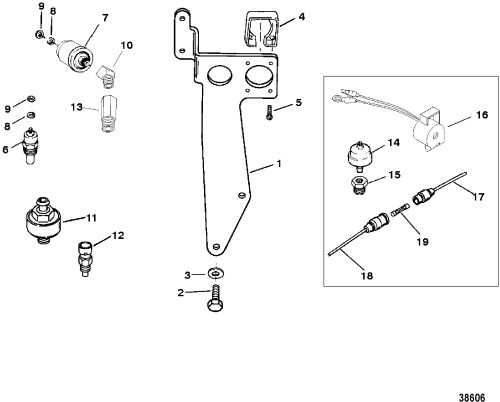 small resolution of senders and harness bracket