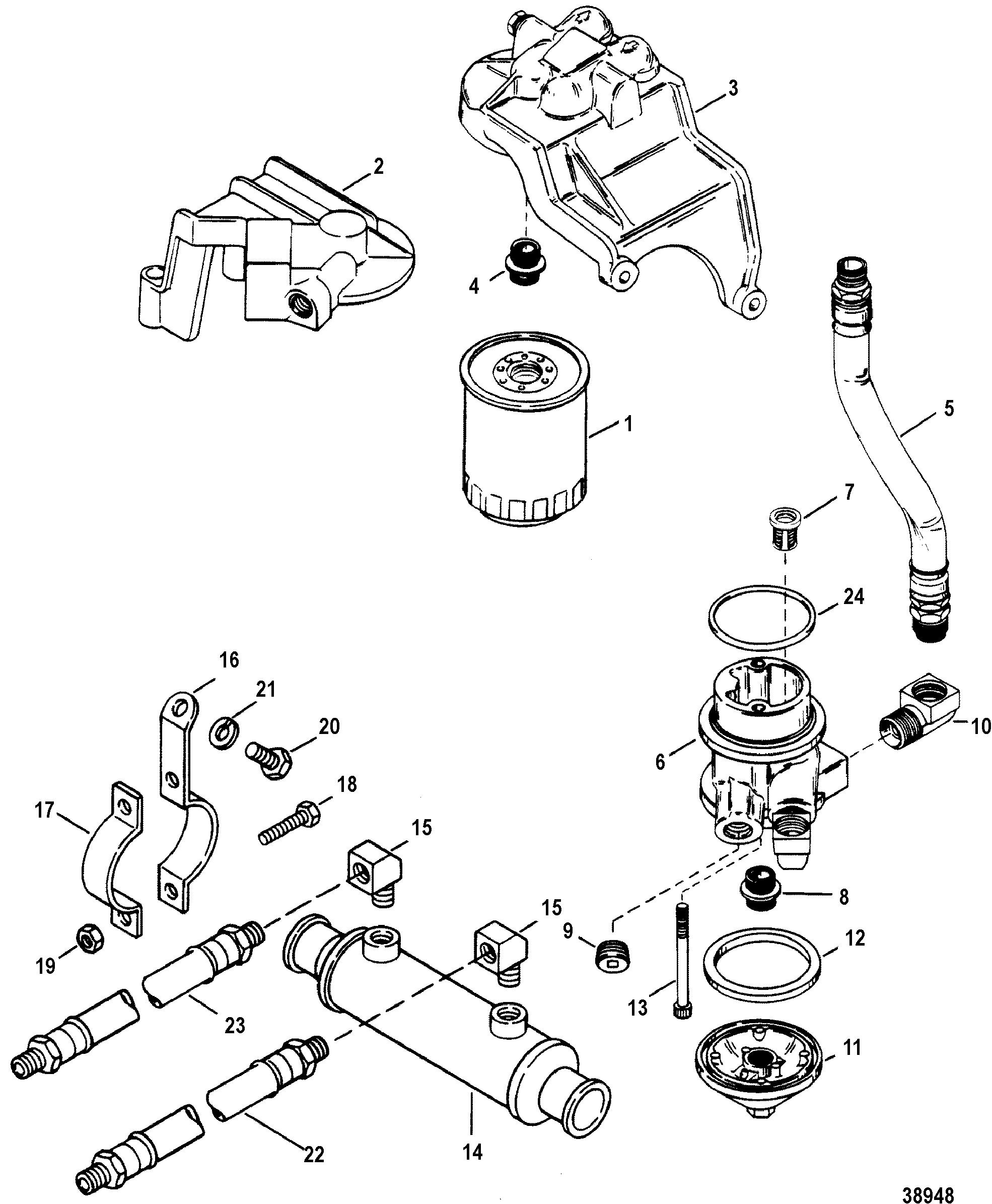 Mercruiser 340 Mie W B W Gm