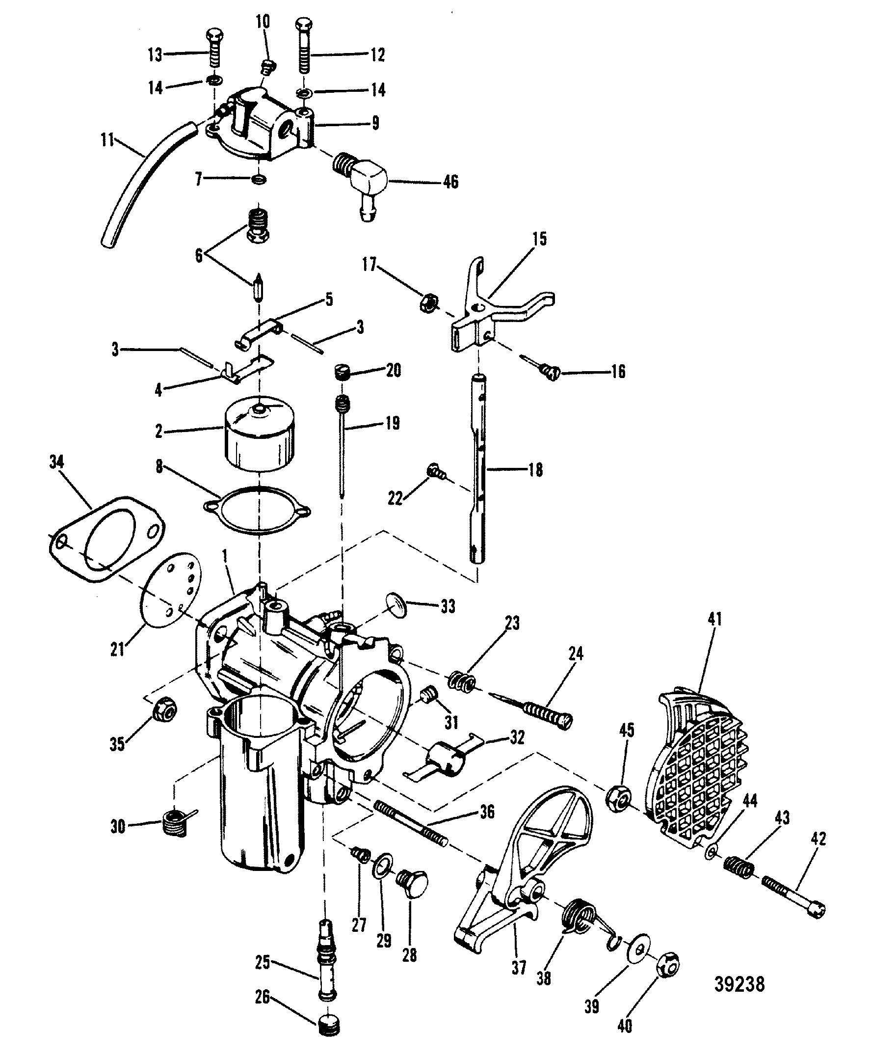 Каталог запчастей MERCURY 2-х тактные 40 (2 CYL.) 8064750