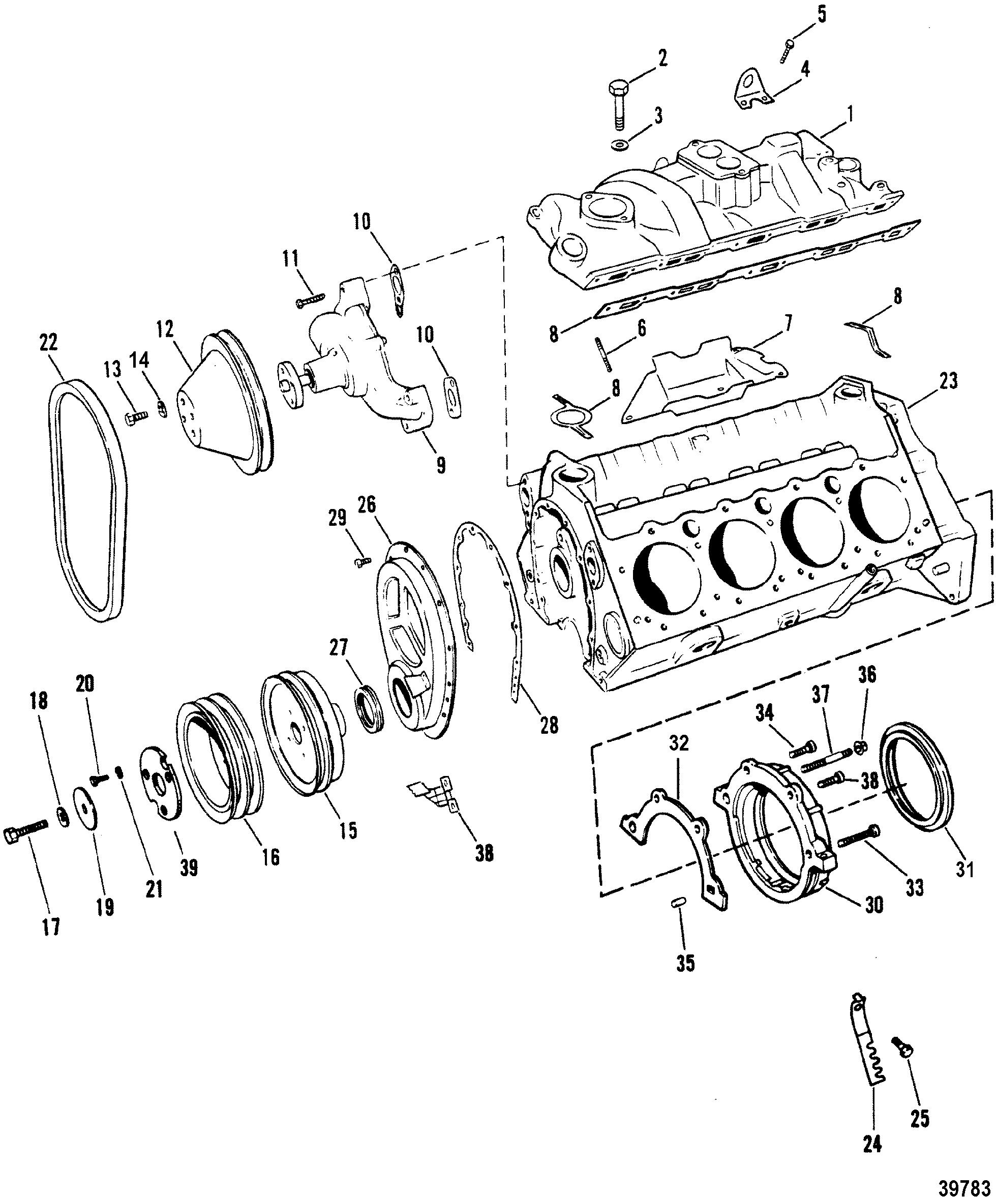 Каталог запчастей MERCRUISER остальные 230 MIE (4 BBL.) GM