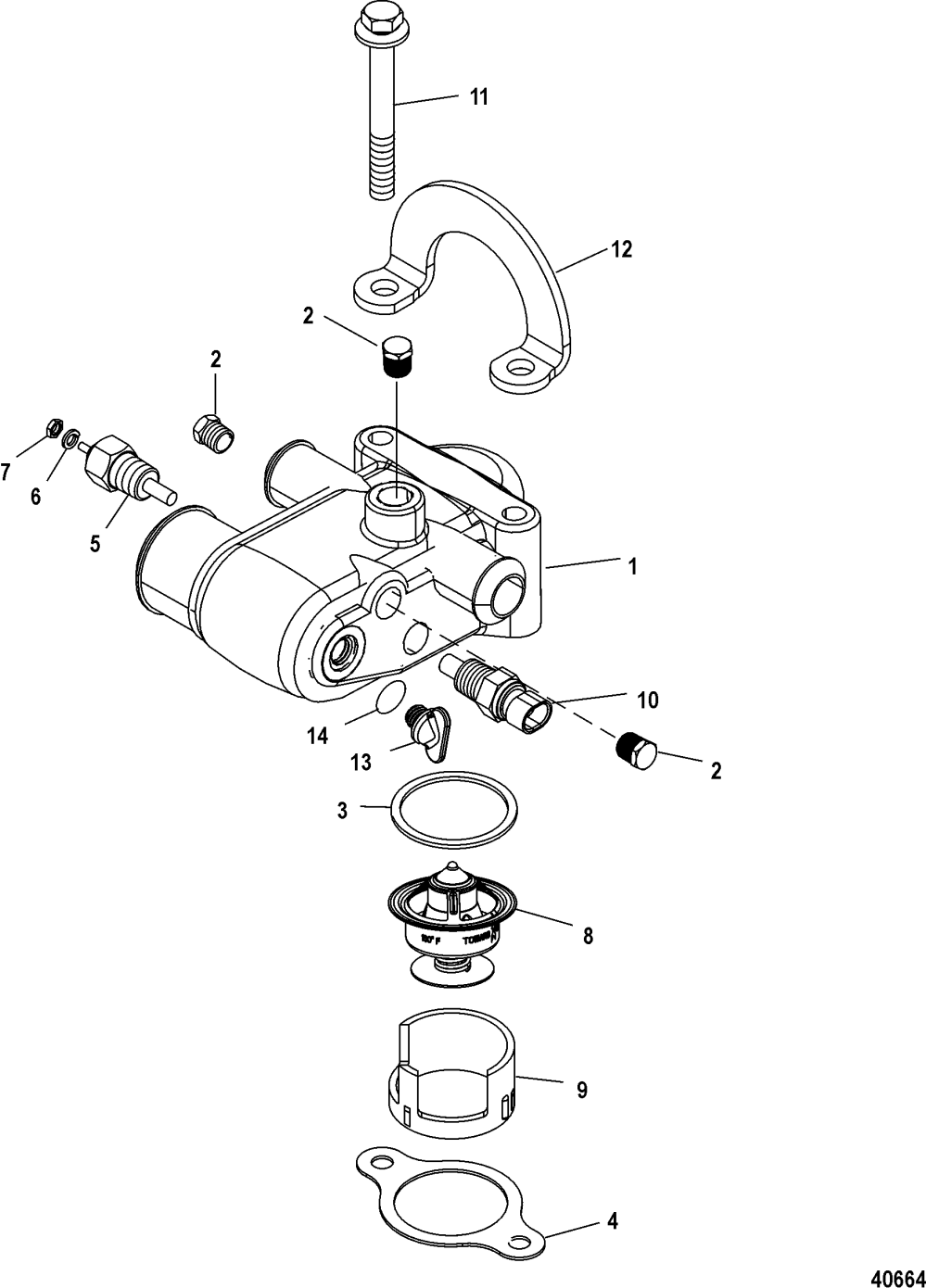 medium resolution of thermostat and housing