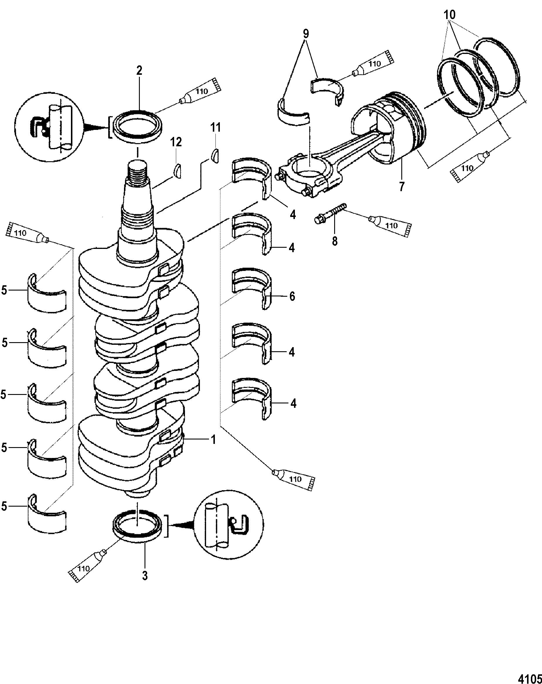 Каталог запчастей MERCURY 4-х тактные 80 EFI (4-STROKE