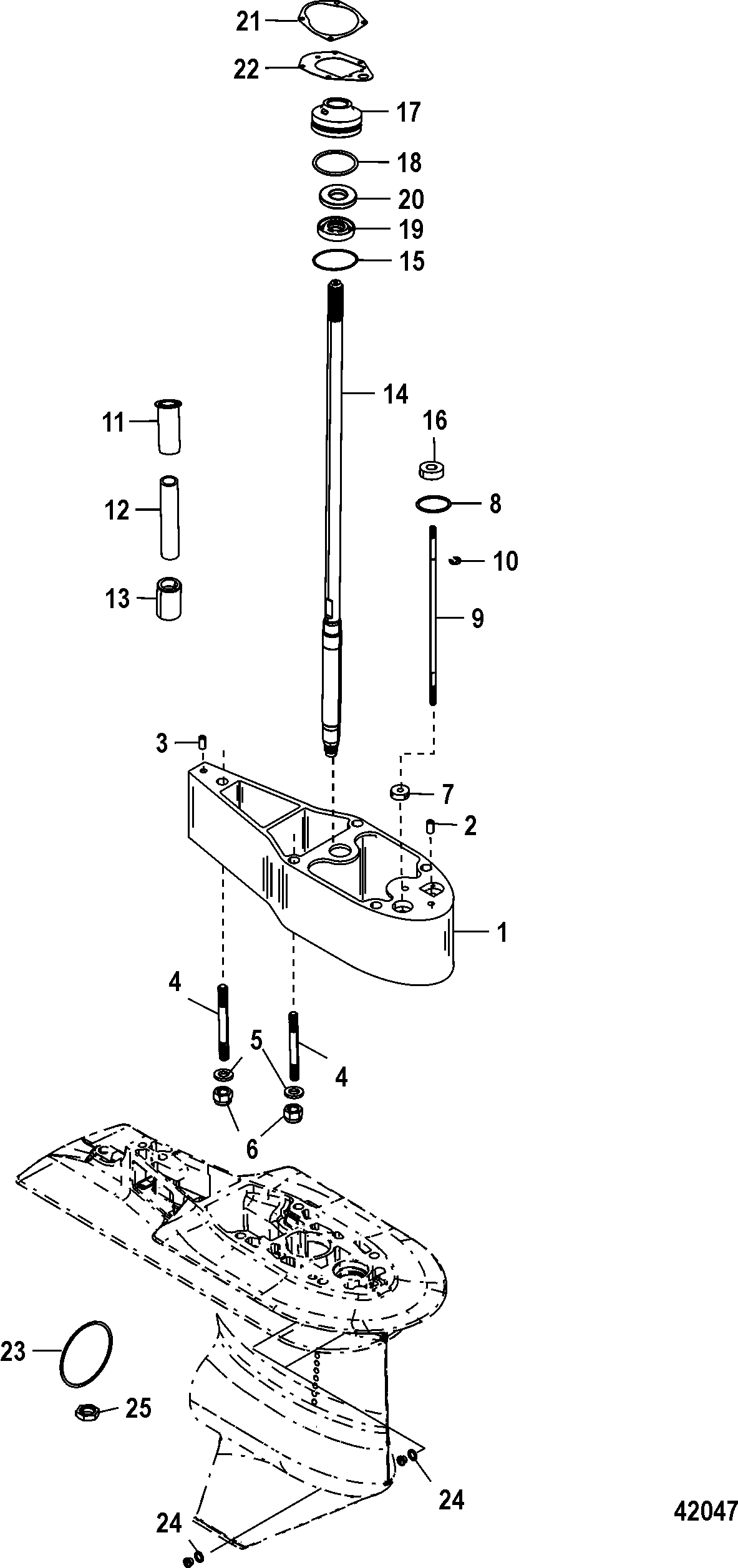 Каталог запчастей MARINER 40 EFI (4 CYL.)(4-STROKE