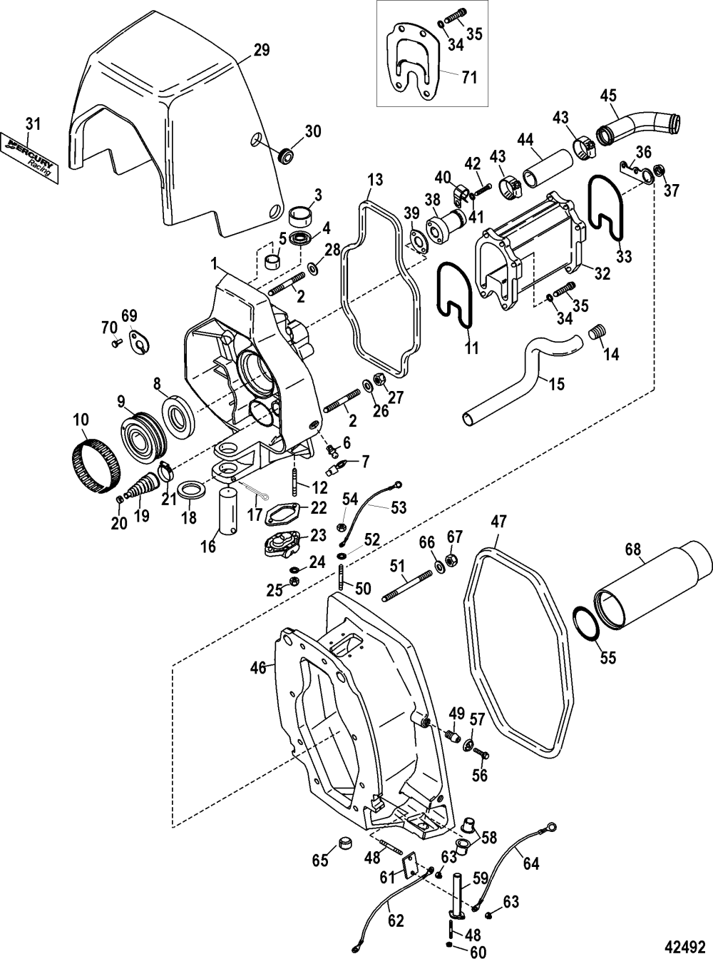 medium resolution of gimbal housing integrated transom
