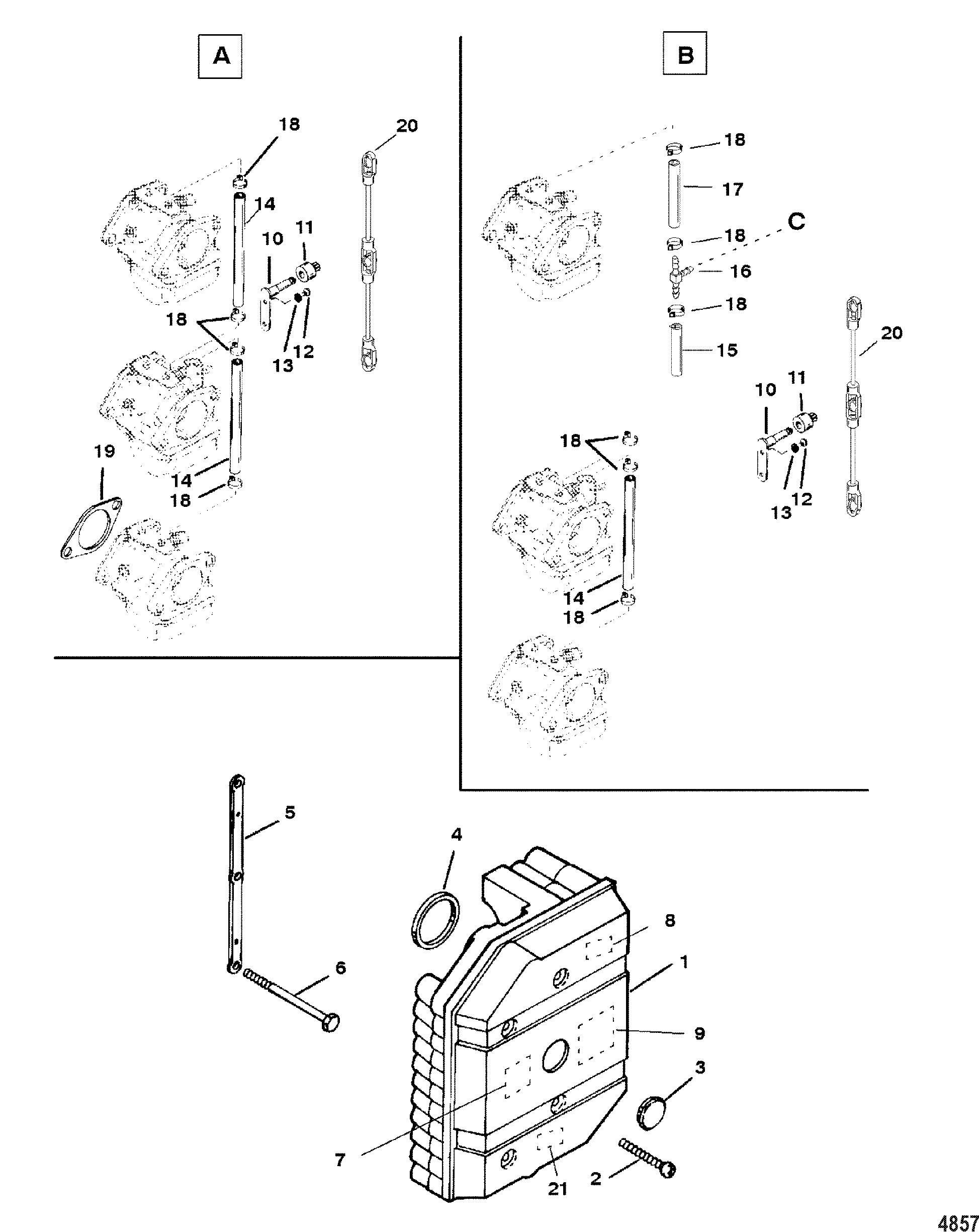 Каталог запчастей MERCURY 2-х тактные 60 (3 CYL.) 0P017000