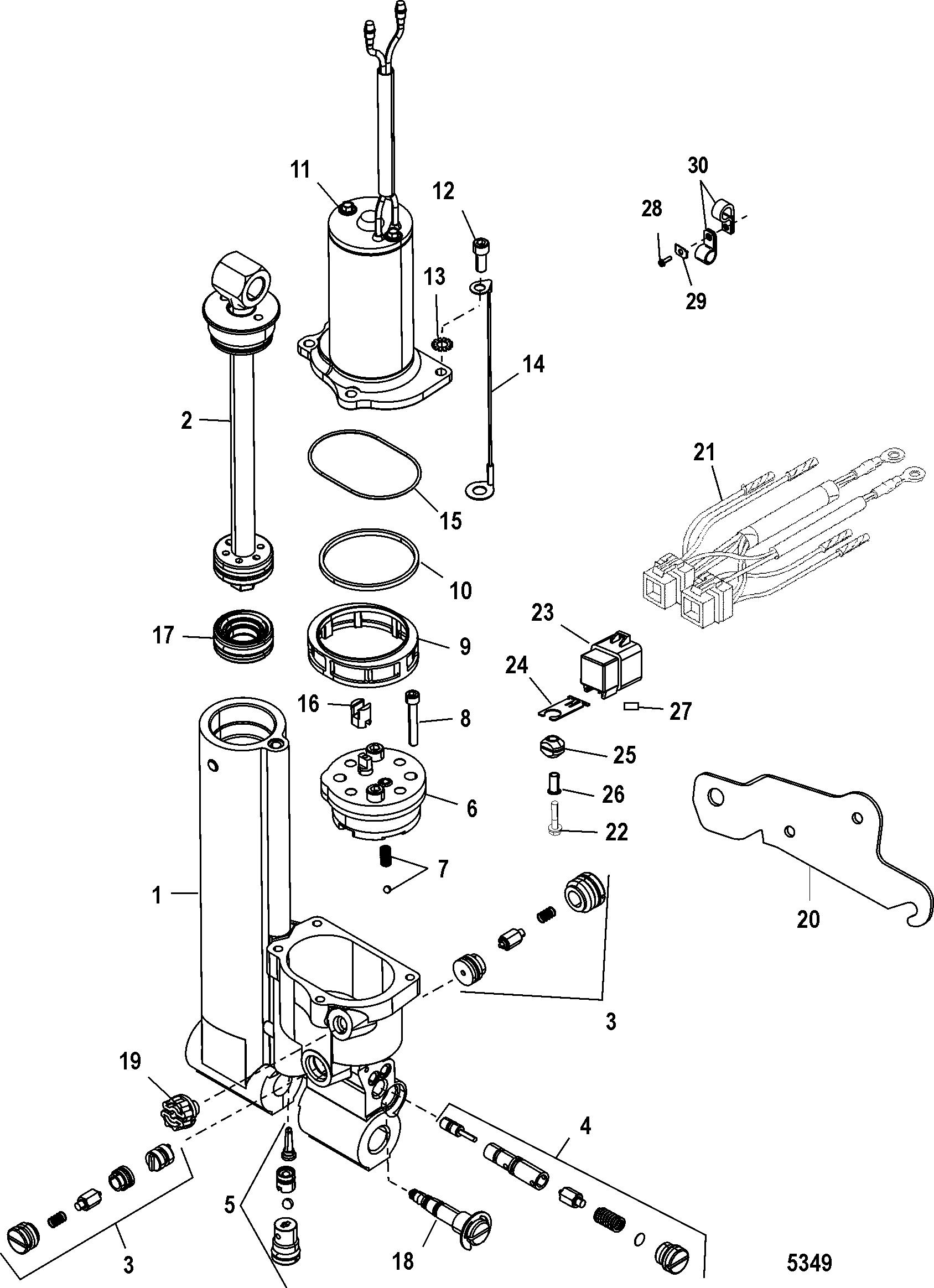 Каталог запчастей MARINER 40 (3 CYL.) 0G760300 THRU