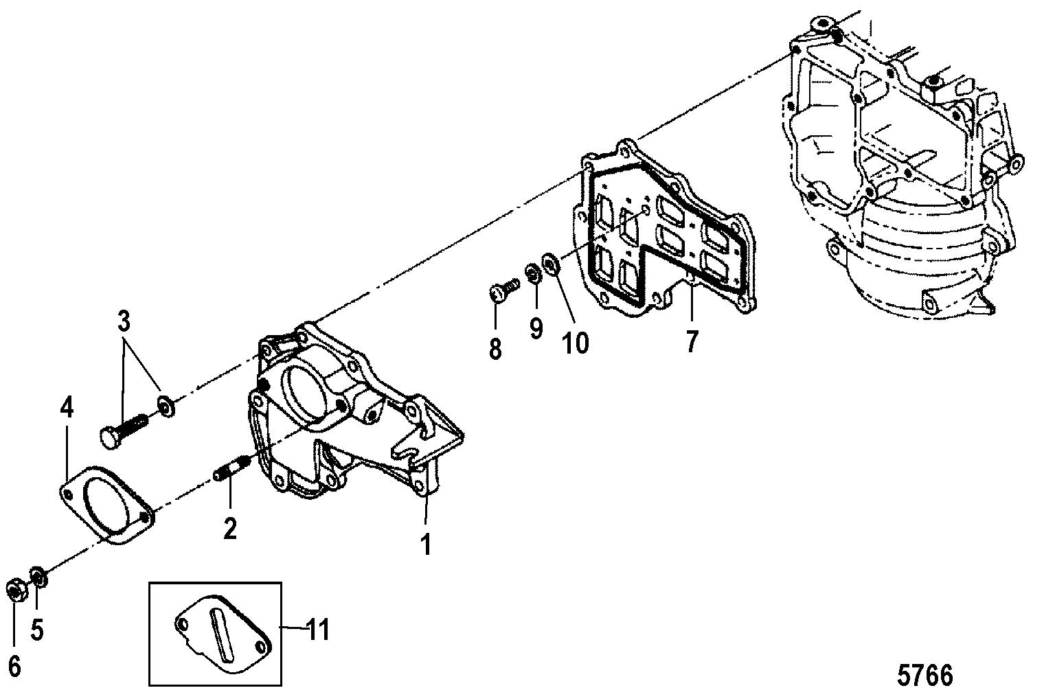 Каталог запчастей MERCURY 2-х тактные 25 (2 CYL.)(2-STROKE