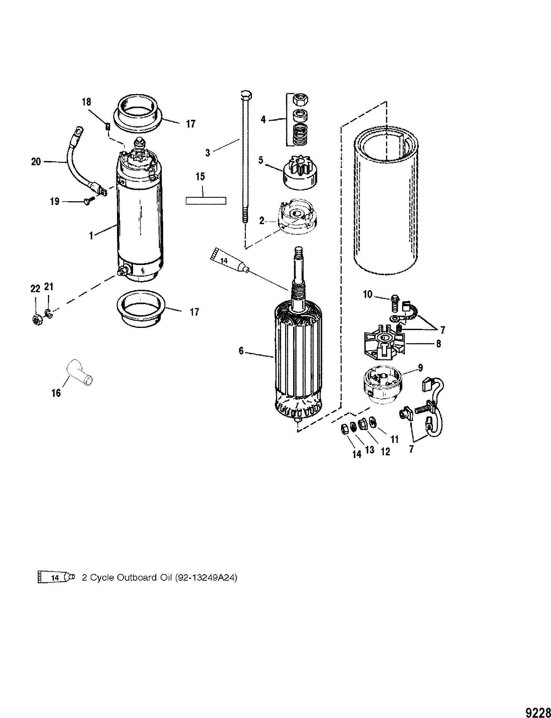 Каталог запчастей MARINER V-135 DFI (2.5L) 0G960500 THRU
