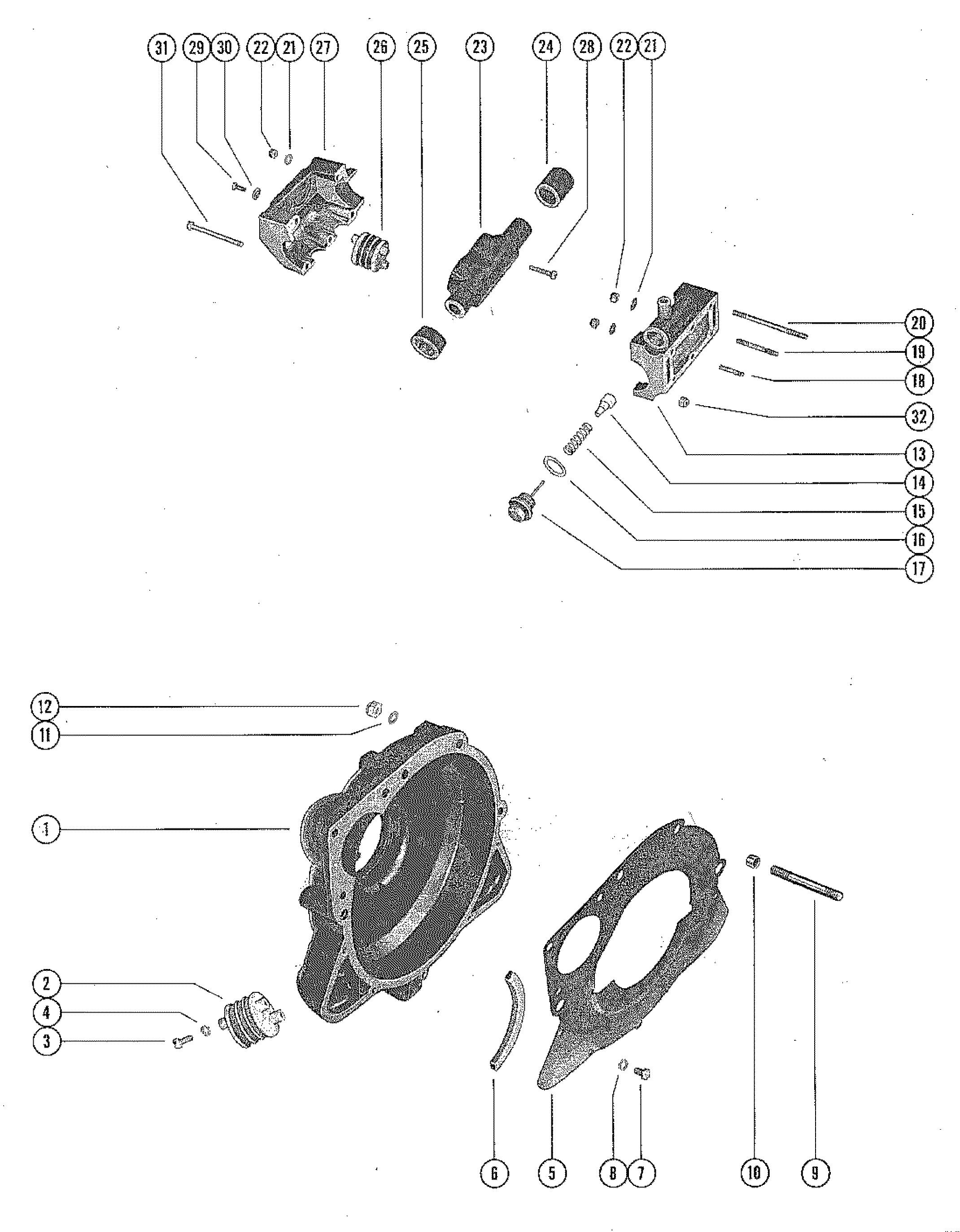 Каталог запчастей MERCRUISER остальные 0 (Sterndrive) 1965