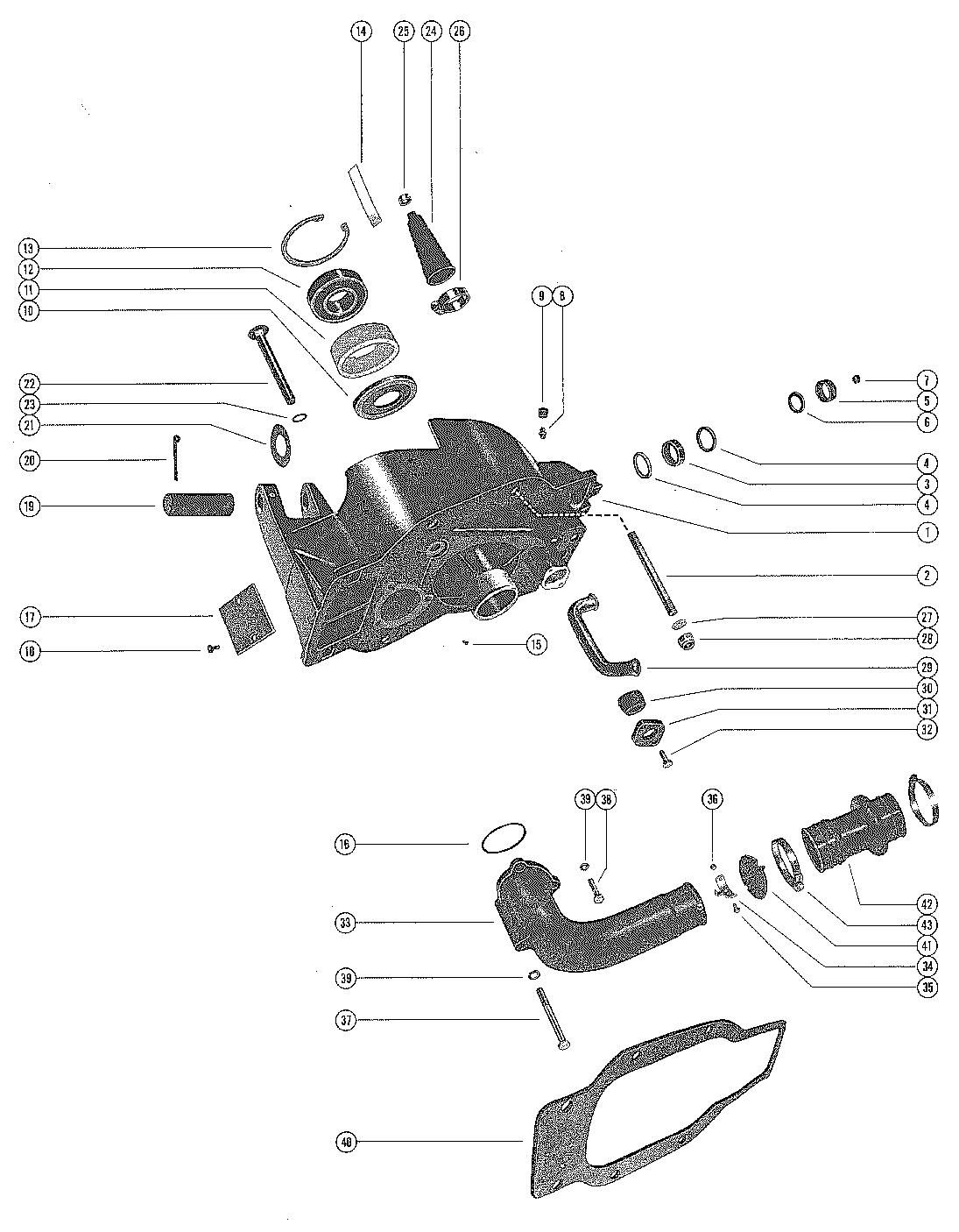 Каталог запчастей MERCRUISER остальные 120/140 1967-1969