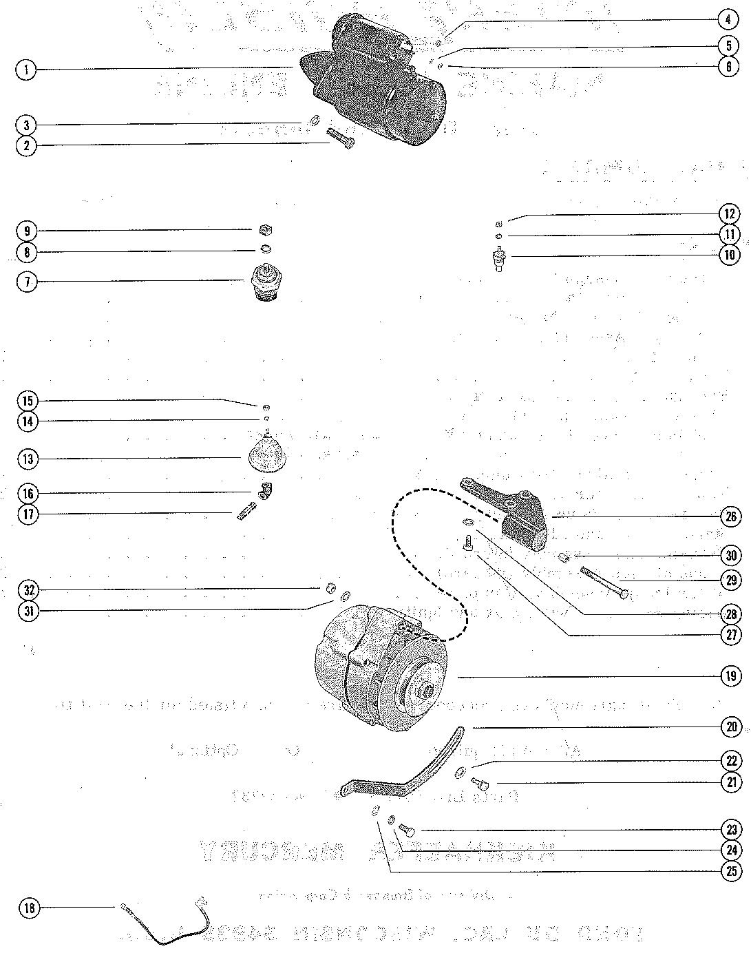 Каталог запчастей MERCRUISER остальные 250 MIE GM 327 V-8
