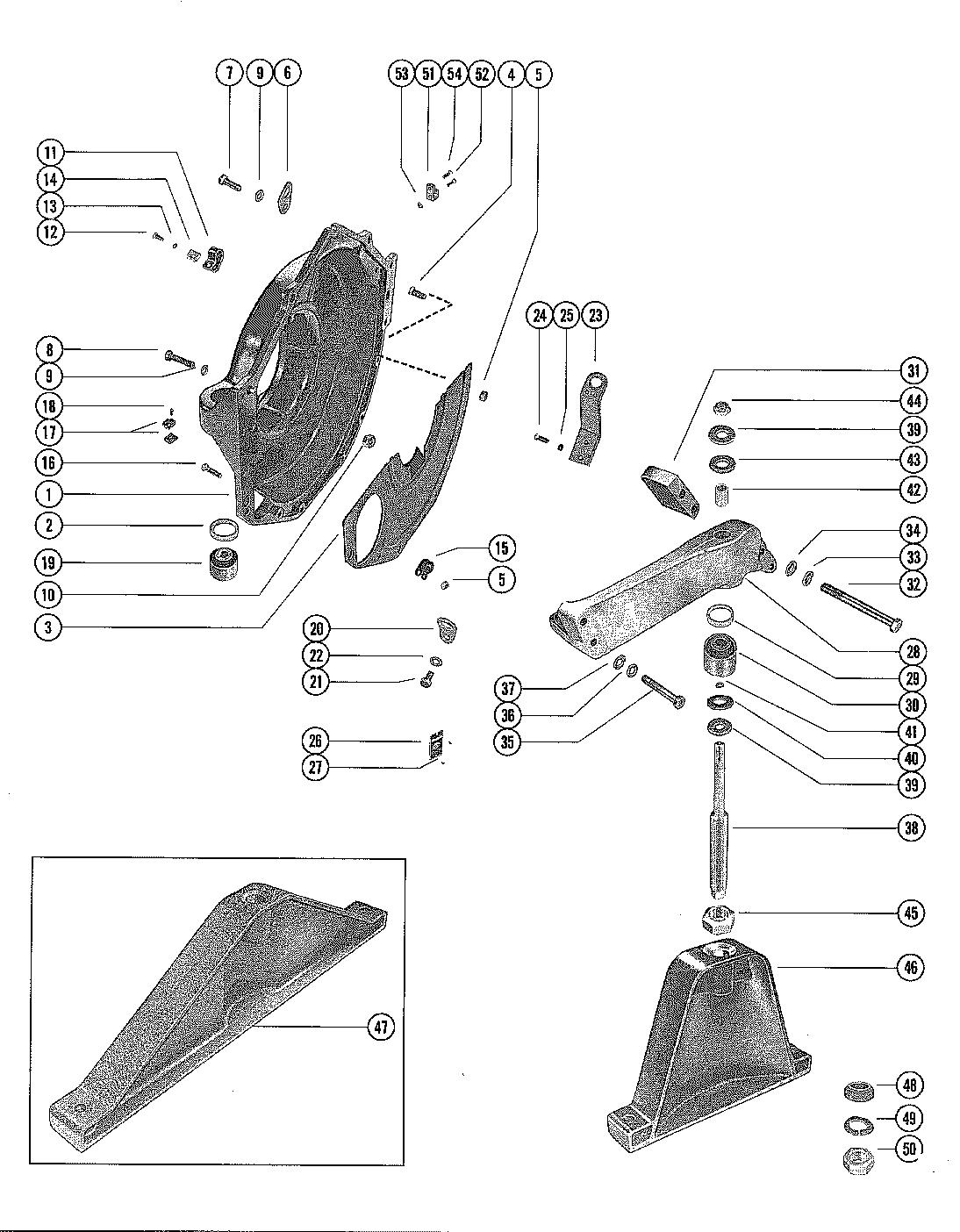 Каталог запчастей MERCRUISER остальные 120 GM 153 I/L4
