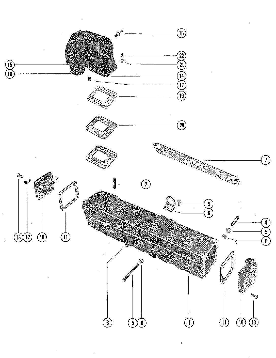 Каталог запчастей MERCRUISER остальные 233 FORD 351 V-8