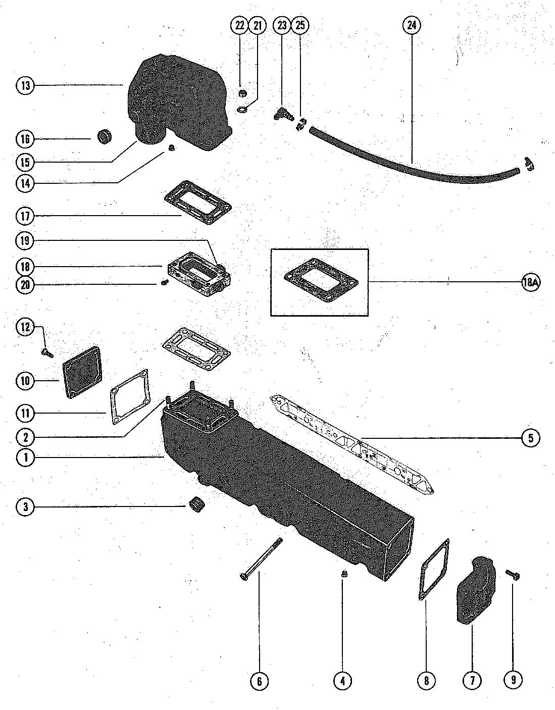 Каталог запчастей MERCRUISER остальные 280 TRS GM 350 V-8