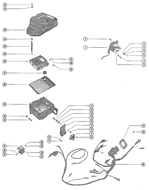 small resolution of wiring harness switch box and ignition coil