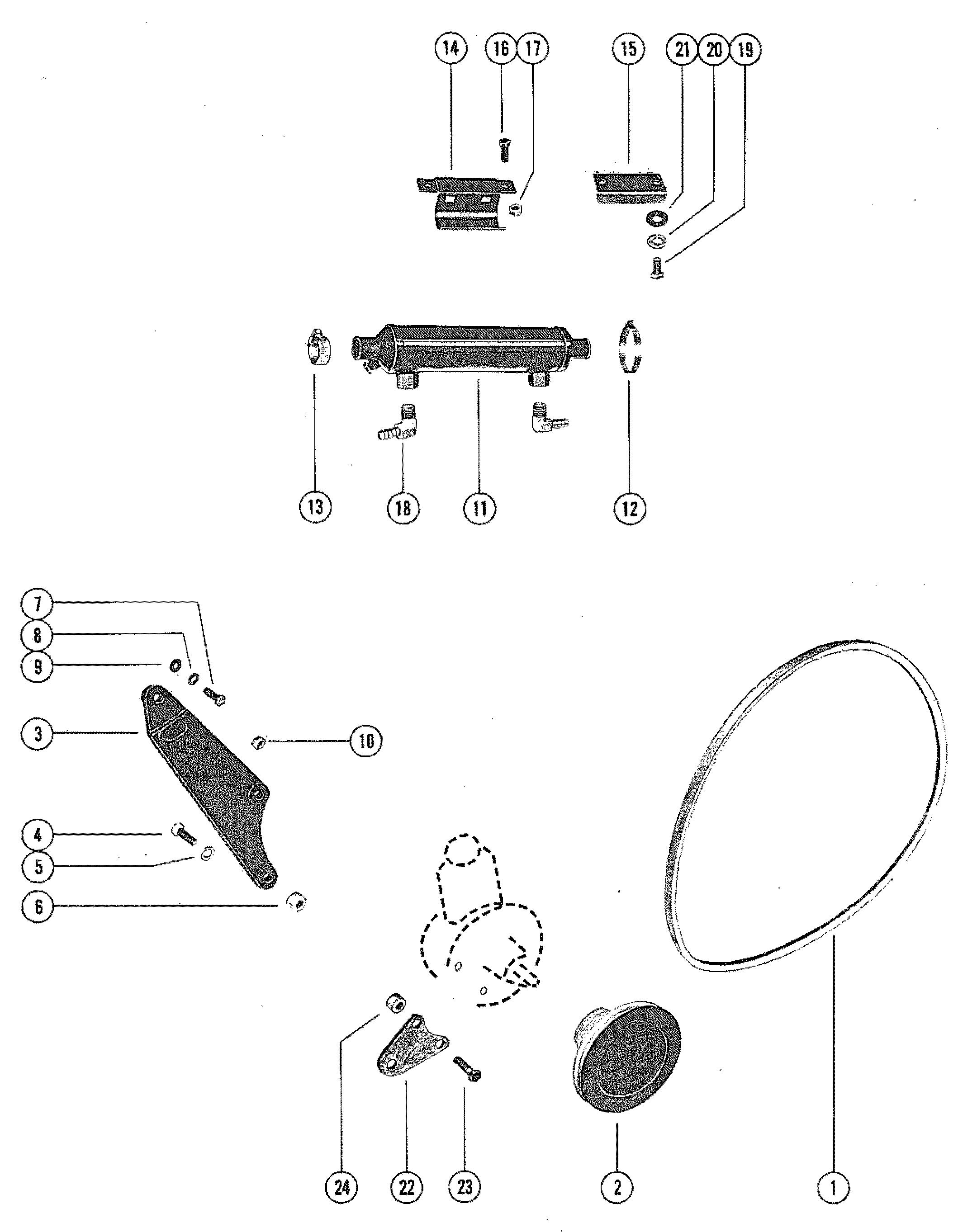 Каталог запчастей MERCRUISER остальные 330 GM 454 V-8 1977
