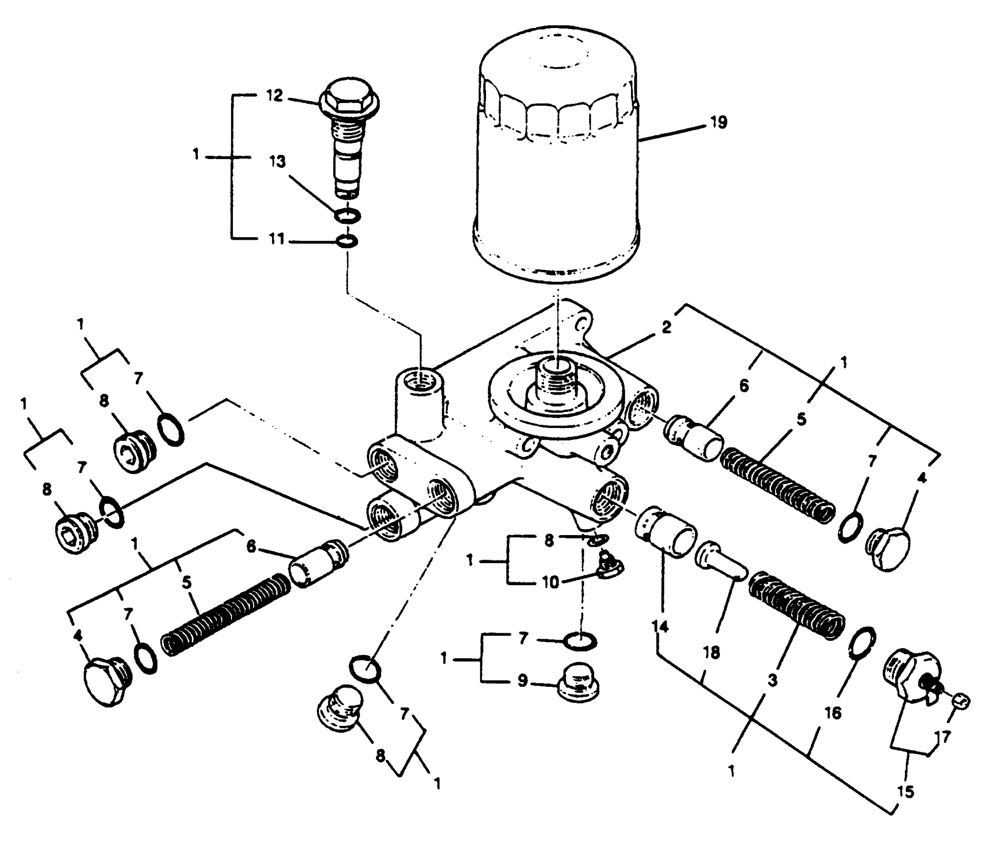 hight resolution of oil filter base assembly