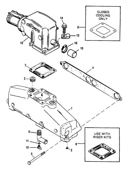 small resolution of exhaust manifold and exhaust elbow bravo