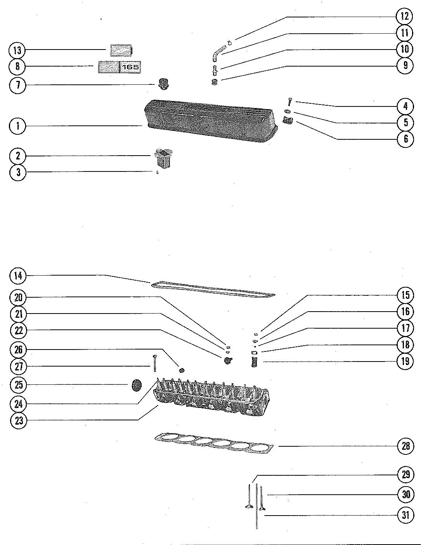 Каталог запчастей MERCRUISER остальные 165 GM 250 I/L6