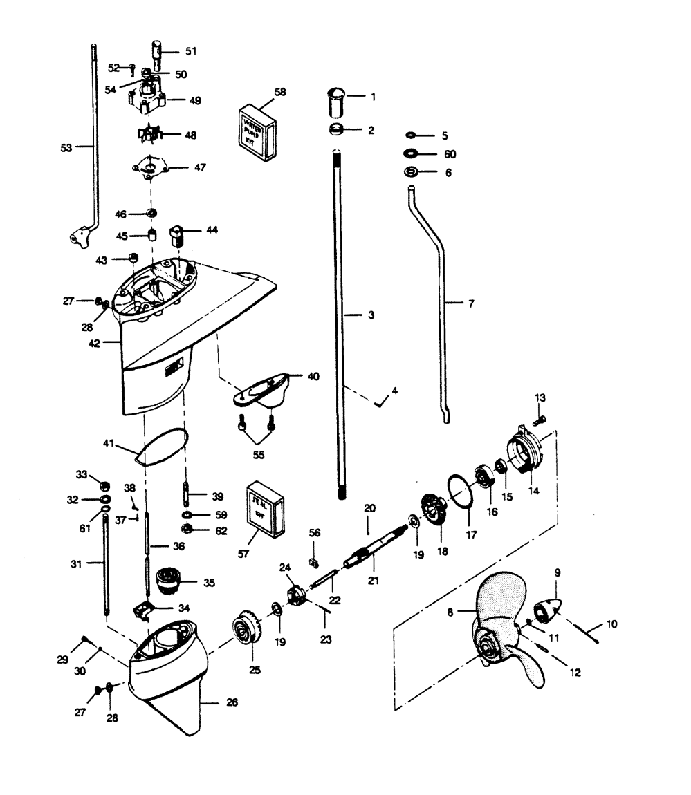 medium resolution of  force 50 h p 1989 507a9c diagram of 50 hp 1989 force outboard 507f9d electrical components