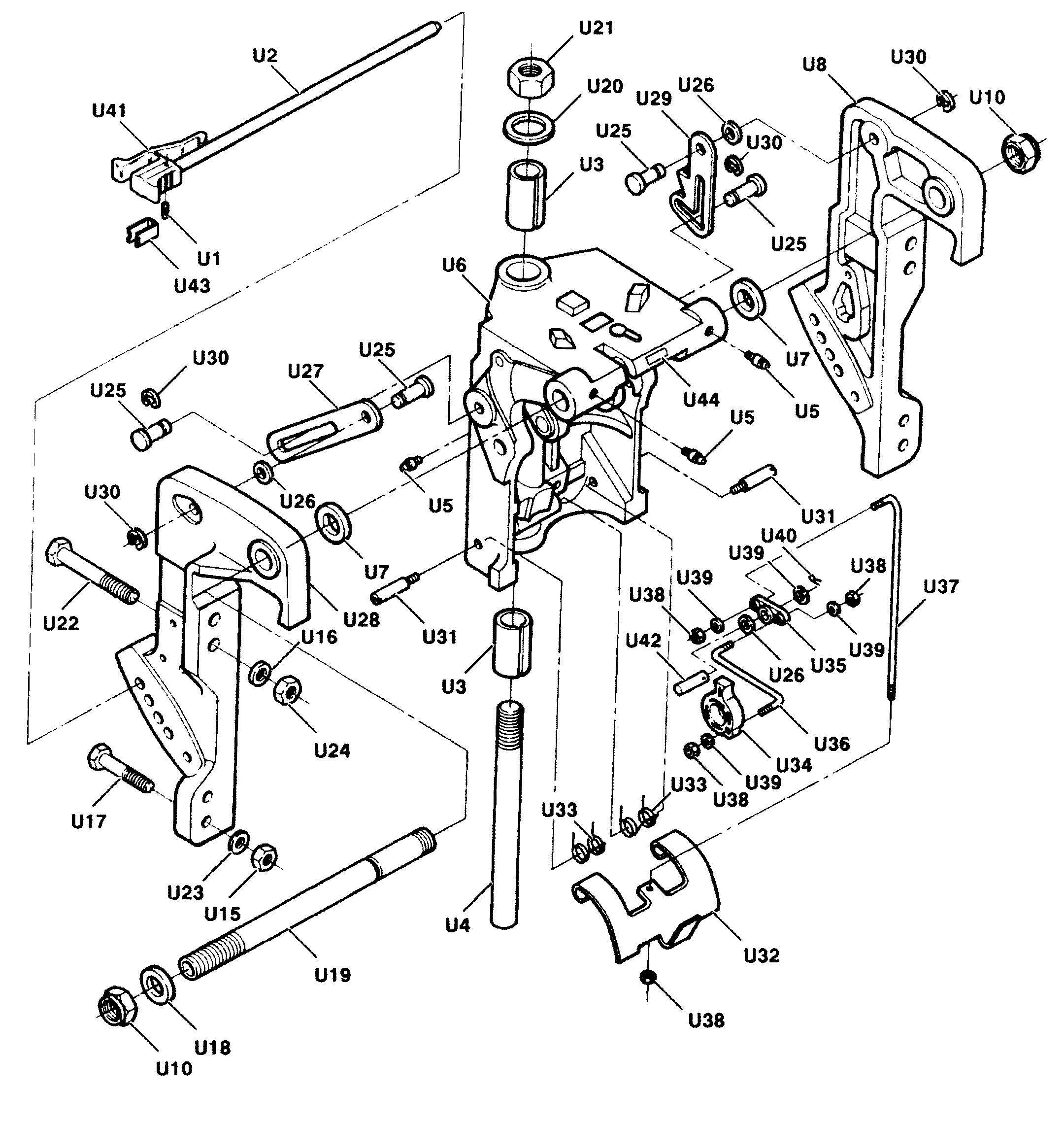 Каталог запчастей FORCE 50 H.P. (1991) 507X91B — Запасные