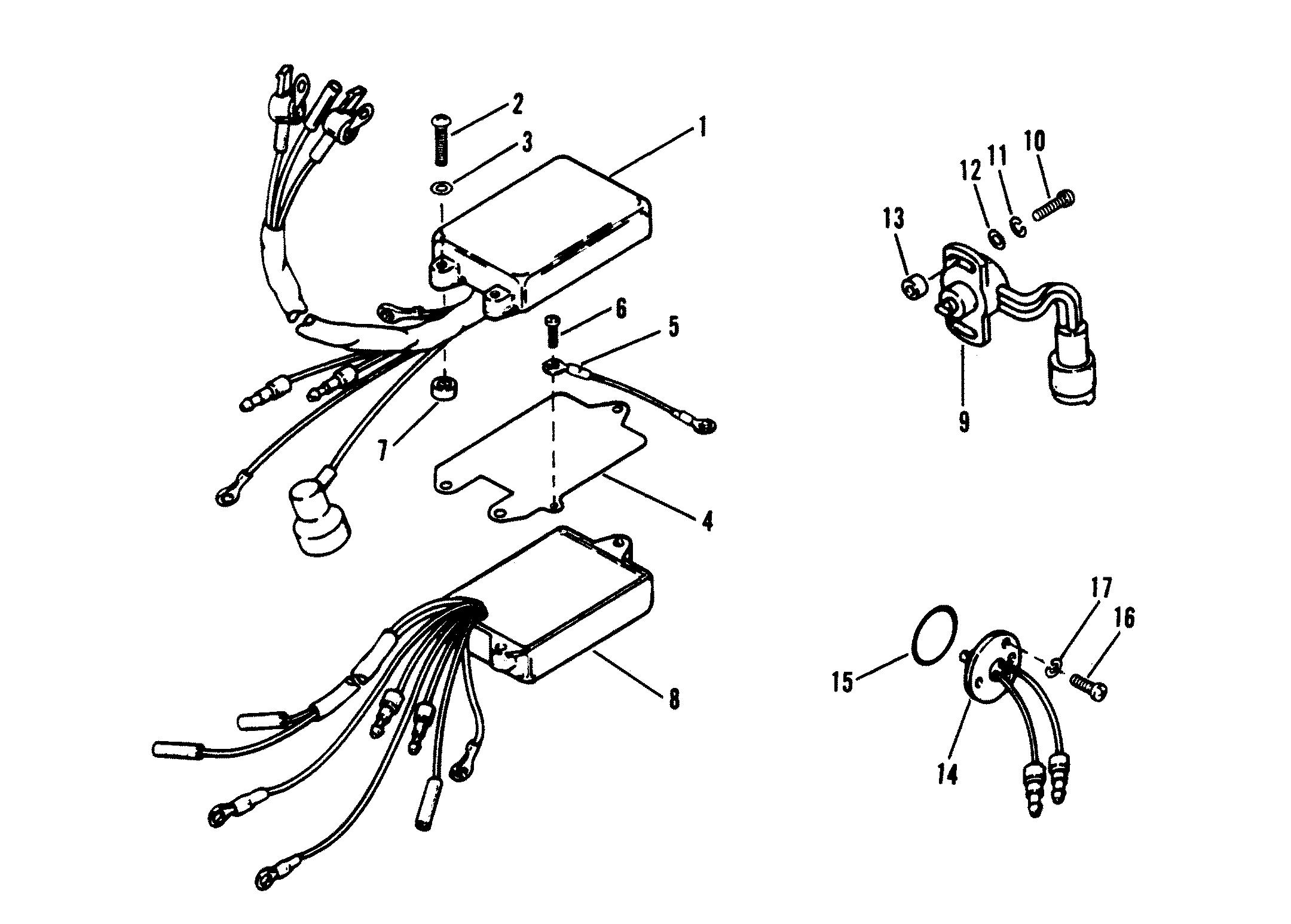 Каталог запчастей MARINER V-220 0B117316 AND UP — Запасные