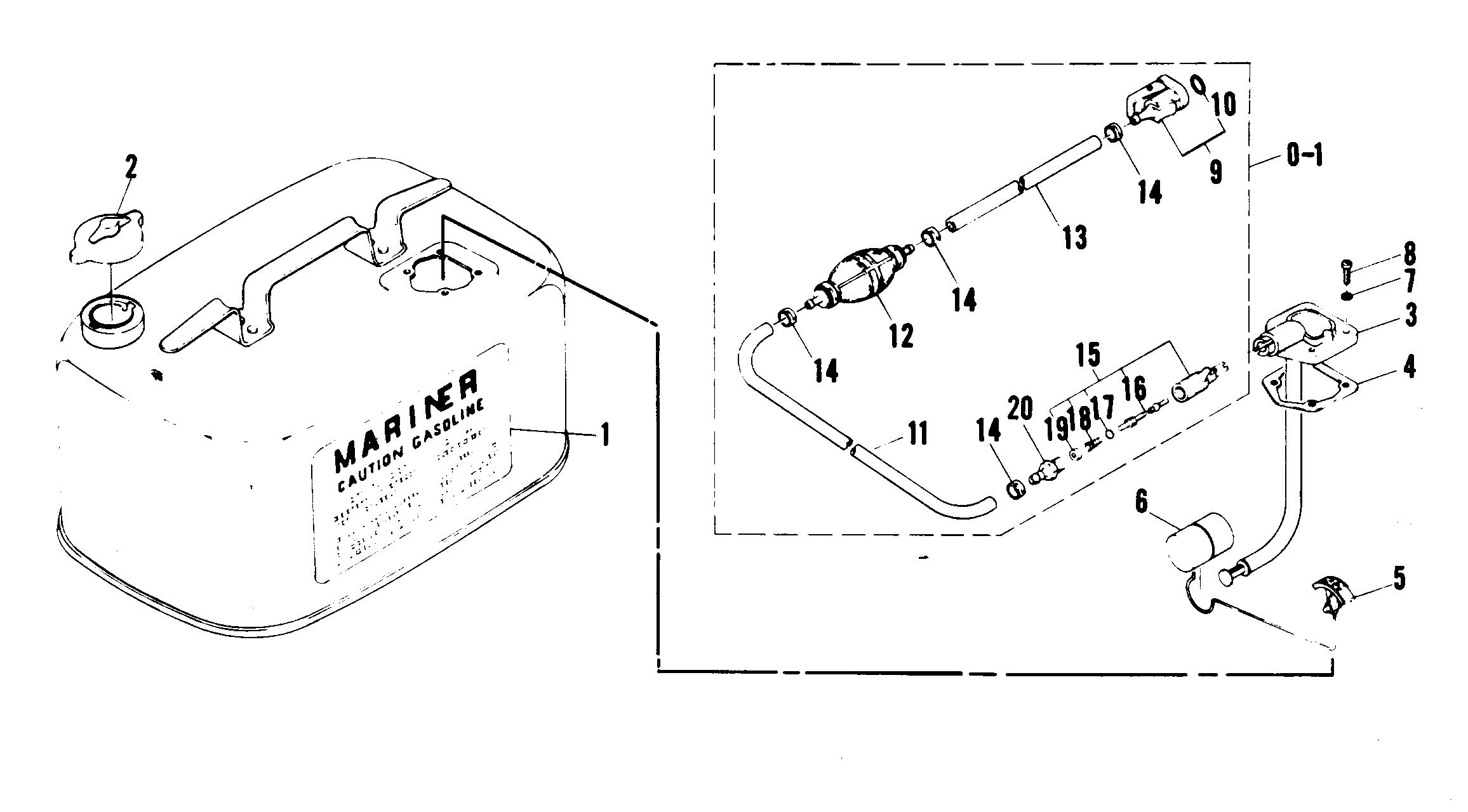 Каталог запчастей MARINER W30 (W/MARATHON) 689-B300101 AND
