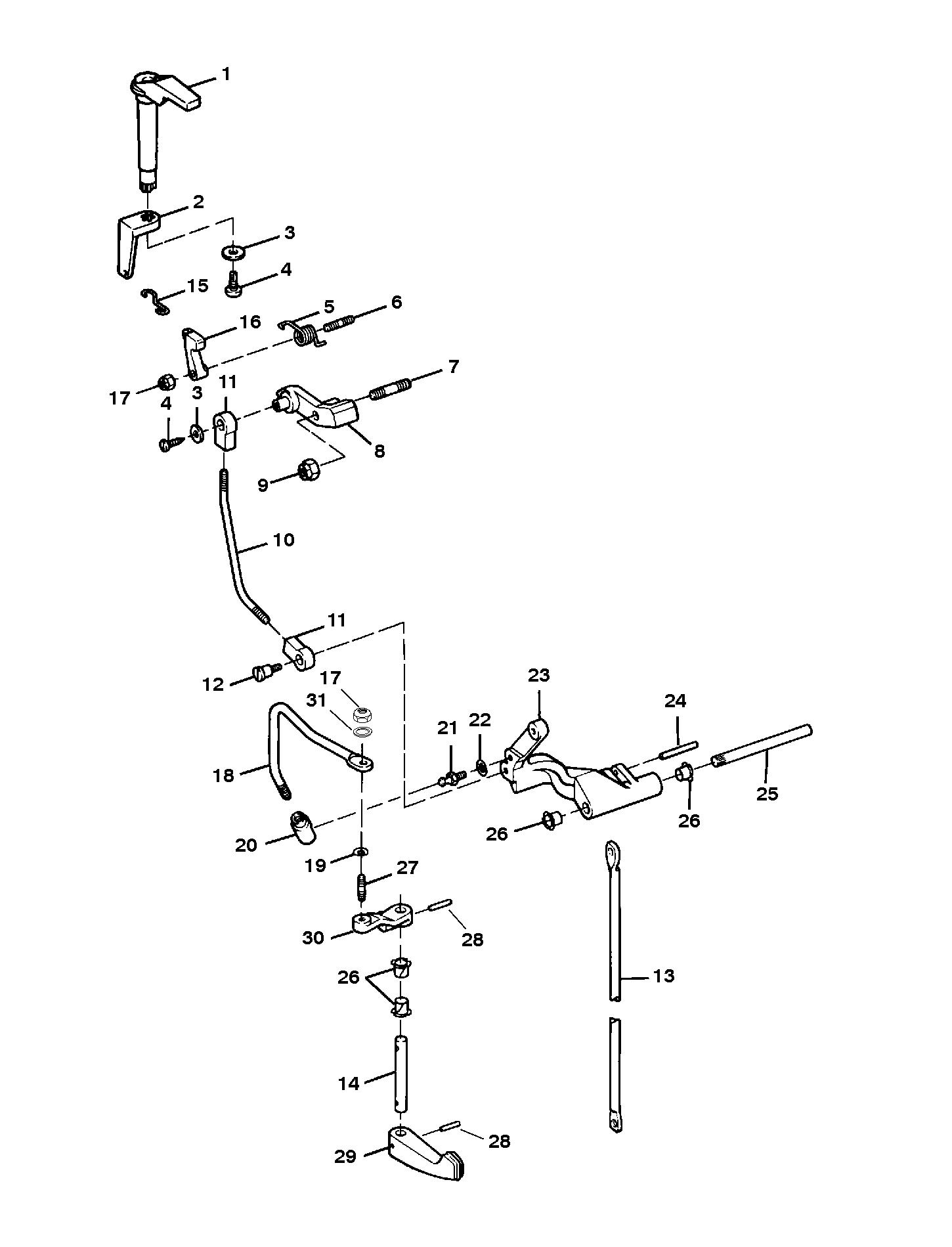 Каталог запчастей SEARS 9.9 H.P. (1996-1997 1/2) 225