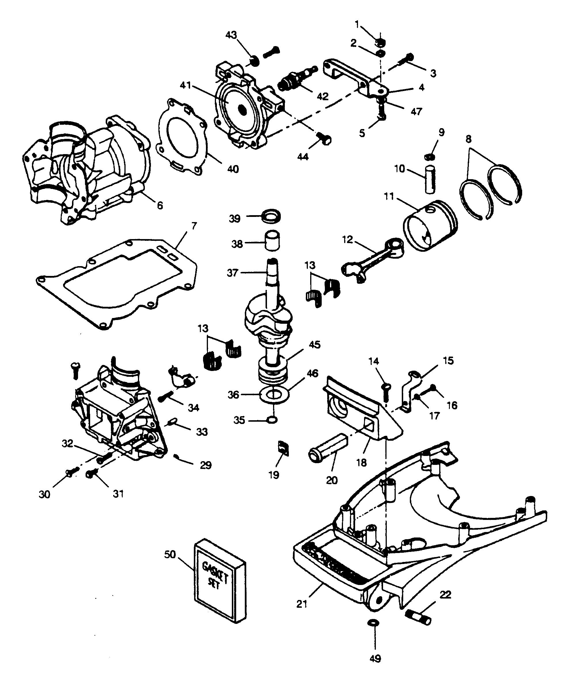 Каталог запчастей SEARS 5 H.P. (1989) 225.587491