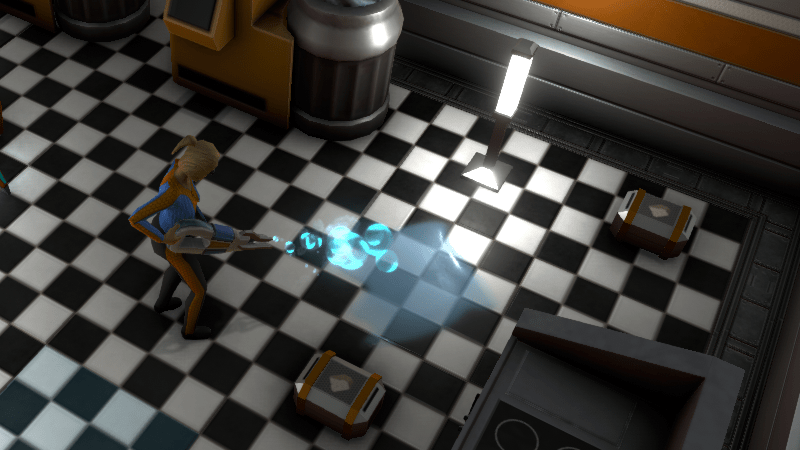 New Janitor Job Role. Colonist cleaning up water spill.