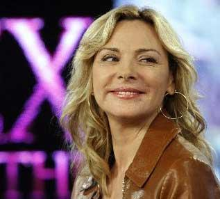 "Actress Kim Cattrall is interviewed on the NBC ""Today"" television program, in New York Tuesday May 27, 2008, where she talked about co-starring in the movie version of ""Sex and the City."""