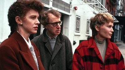 "Judy Davis, Woody Allen, and Mia Farrow in ""Husbands and Wives"""