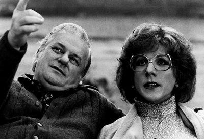 Charles Durning and Dustin Hoffman in Tootsie.