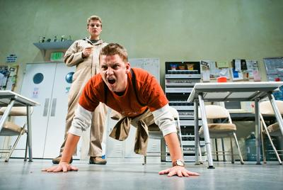 "SF PLAYHOUSEPatrick Russell, left, and Craig Marker star in ""reasons to be pretty"" at SF Playhouse."
