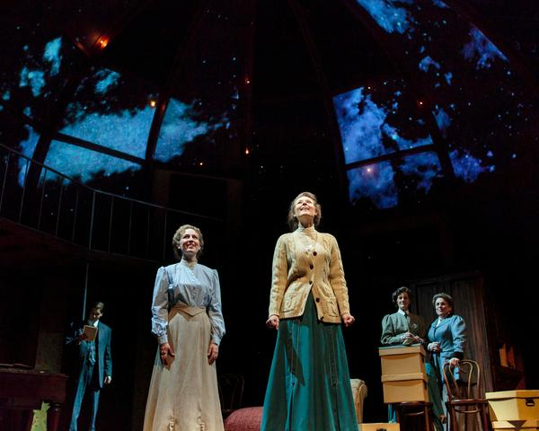 "Mark Kitaoka / TheatreWorksMatt Citron as Peter Shaw, Jennifer Le Blanc as Margaret Leavitt, Elena Wright as Henrietta Leavitt, Sarah Dacey Charles as Annie Cannon and Lynne Sofferas Williamina Fleming, from left, in Lauren Gunderson's ""Silent Sky,"" presented by TheatreWorks Jan. 15-Feb. 9, 2014, at the Mountain View Center for the Performing Arts."