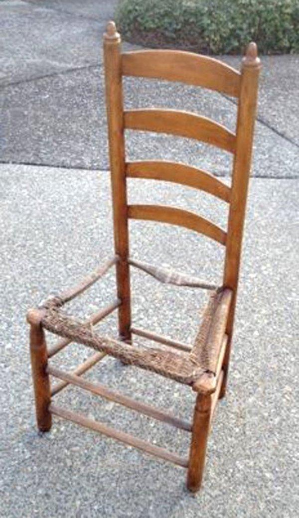 antique sewing chair swivel gas lift jane alexiadis machine ladder back the a in need of new seat would replacing and selling cover repair cost courtesy