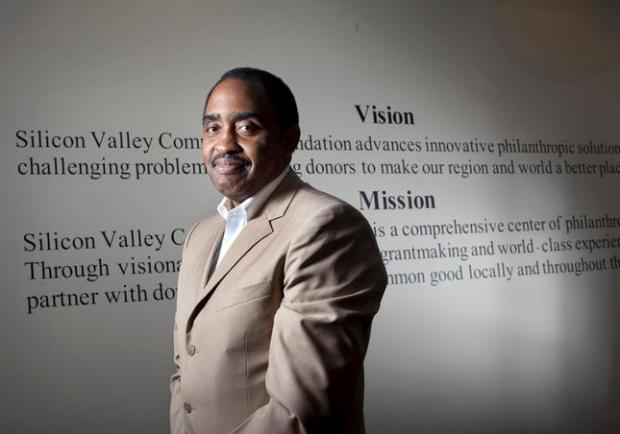 Emmett Carson, president and CEO of the Silicon Valley Community Foundation, at their headquarters in Mountain View, Calif. Thursday, July 26, 2012. (Patrick Tehan/Staff)