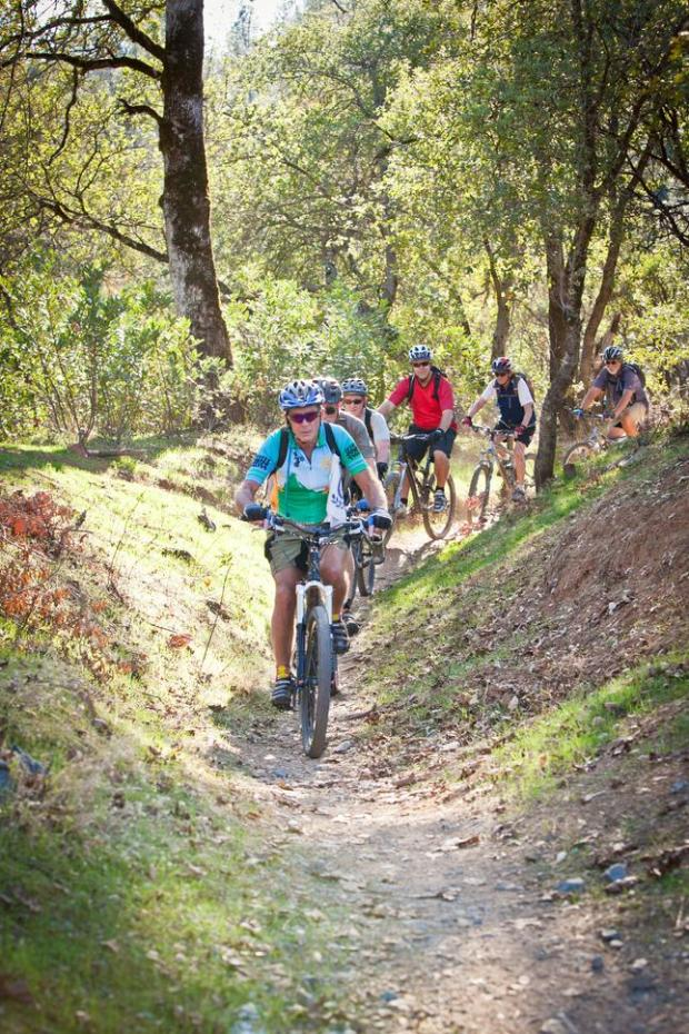 Cyclists ride in the Swasey Recreation Area and Mule Ridge Trails in Redding. (Photo/VisitRedding.com)