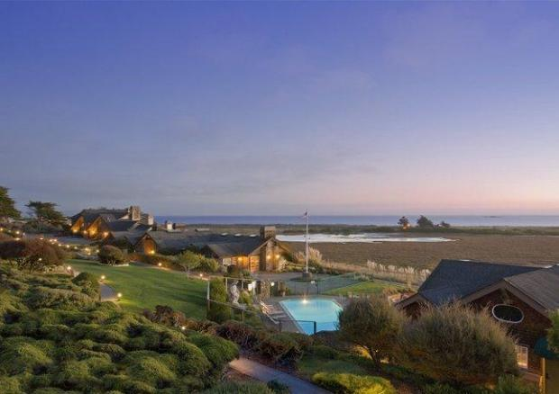 The recently renovated Bodega Bay Lodge offers ocean views from every room- and from the outdoor, infinity-edged whirlpool, as well.Photo credit: Bodega Bay Lodge