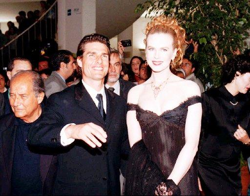 Tom Cruise and Nicole Kidman arrive for a movie opening at the Venice film festival in this Sept. 6, 1996, file photo.