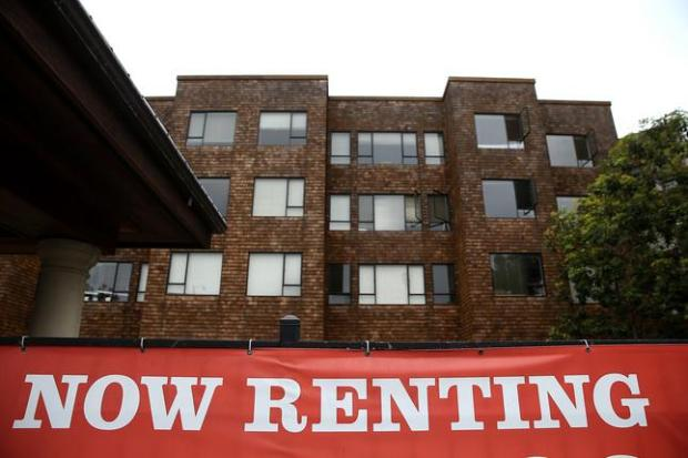 SAN FRANCISCO, CA - APRIL 21: A sign is posted in front of an apartment building on April 21, 2015 in San Francisco, California. According to a report by Forbes magazine, San Francisco, Oakland and San Jose top the list of worst places in the nation for renters. Bay Area renters are faced with extremely low vacancy rates that have prompted high rents that average over $3,100 for a one bedroom in San Francisco. (Photo by Justin Sullivan/Getty Images)