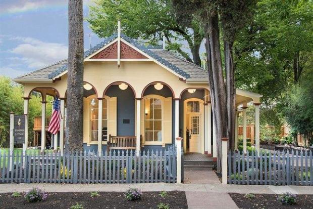 The historic Brannan Cottage Inn in Calistoga was one of several cottages built by Sam Brannan in the 19th century.