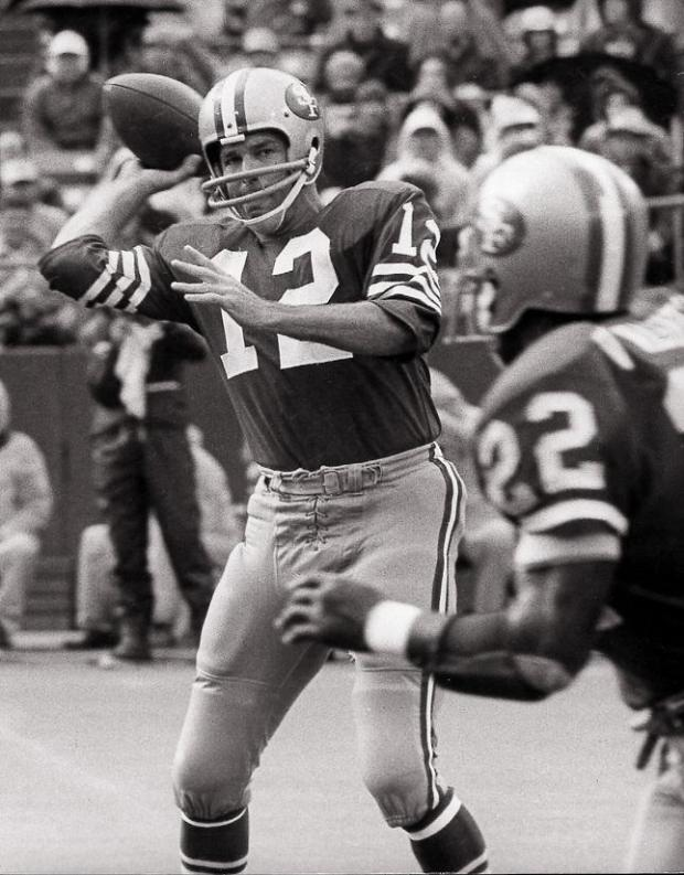 undated file photo...John Brodie, San Francisco 49ers -- SCREDIT: mercury news archives