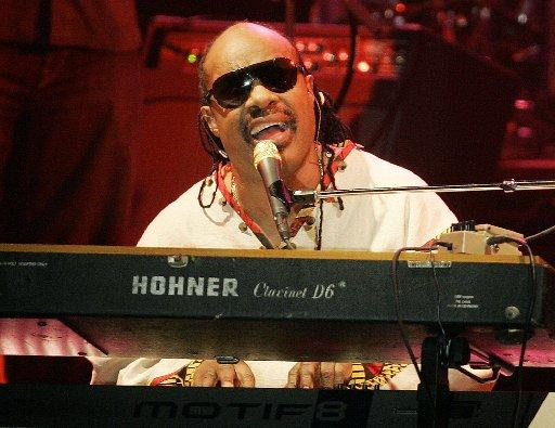 Stevie Wonder performs in San Diego on Aug. 23, 2007.
