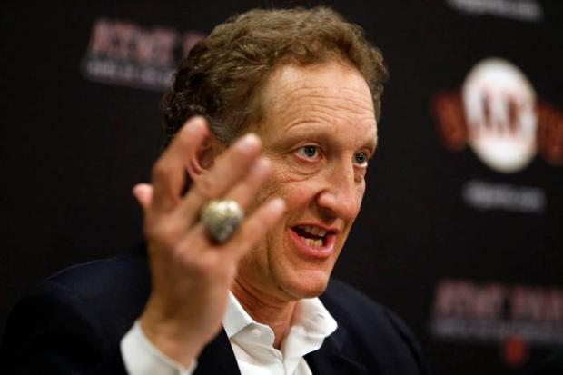 San Francisco Giants CEO and president Larry Baer speaks at a year-end press conference, Monday afternoon, Oct. 5, 2015, at AT&T Park in San Francisco, Calif. (Karl Mondon/Bay Area News Group)
