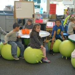Ball Chairs For Students Accent Chair Living Room Ideas Marin School S Wiggle Give The Freedom To Squirm Kindergartners Sit On Inflatable Thursday Feb 11 2016 At Sun Valley Elementary In San Rafael Calif